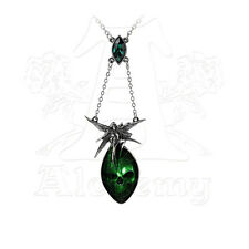 Alchemy of England Absinthe Fairy Necklace with Emerald Green Swarovski Crystal