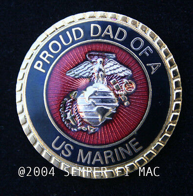 # PROUD DAD OF A US MARINE HAT PIN MARINES SON DAUGHTER WM GRADUATION BOOT 1847