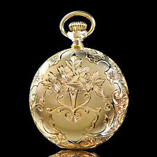 Rare 1899 Waltham Solid 14K Gold, 0 Size 15J Hunter Case Pocket Watch, AMAZING!