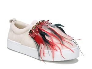 Sam Lelani Edelman Lelani Sam Women's Beige Suede Sneaker Sz 9M 1083 d65813