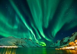 A4-Green-Northern-Lights-Poster-Print-Size-A4-Sky-Nature-Poster-Gift-14452