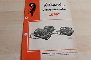 Objectif 144655) Rabewerk Sous Base Packer Upa Prospectus 194?-er Upa Prospekt 194? Fr-fr Afficher Le Titre D'origine