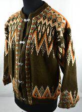 Vintage Gann of Norway Jumper S/M Snowflake Icelandic Fairisle Wool Nordic Dale