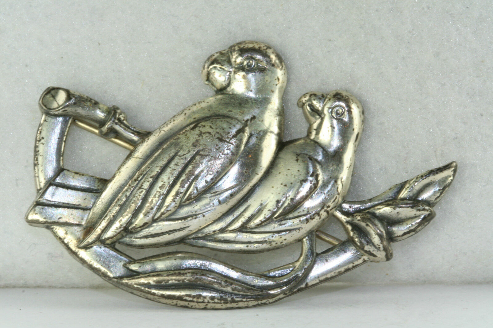 RARE VINTAGE STERLINGCRAFT BY Cgold PIN PARred BIRD PIN