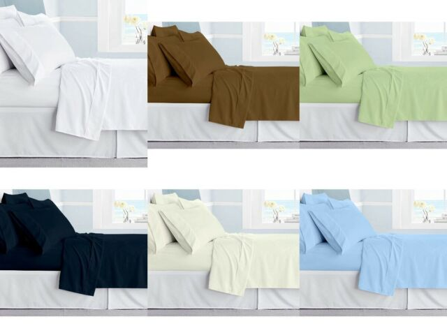 """1 Piece Fitted Sheet 100/% Egyptian Cotton 800 Tc Stripe Queen//King Size Deep 15/"""""""