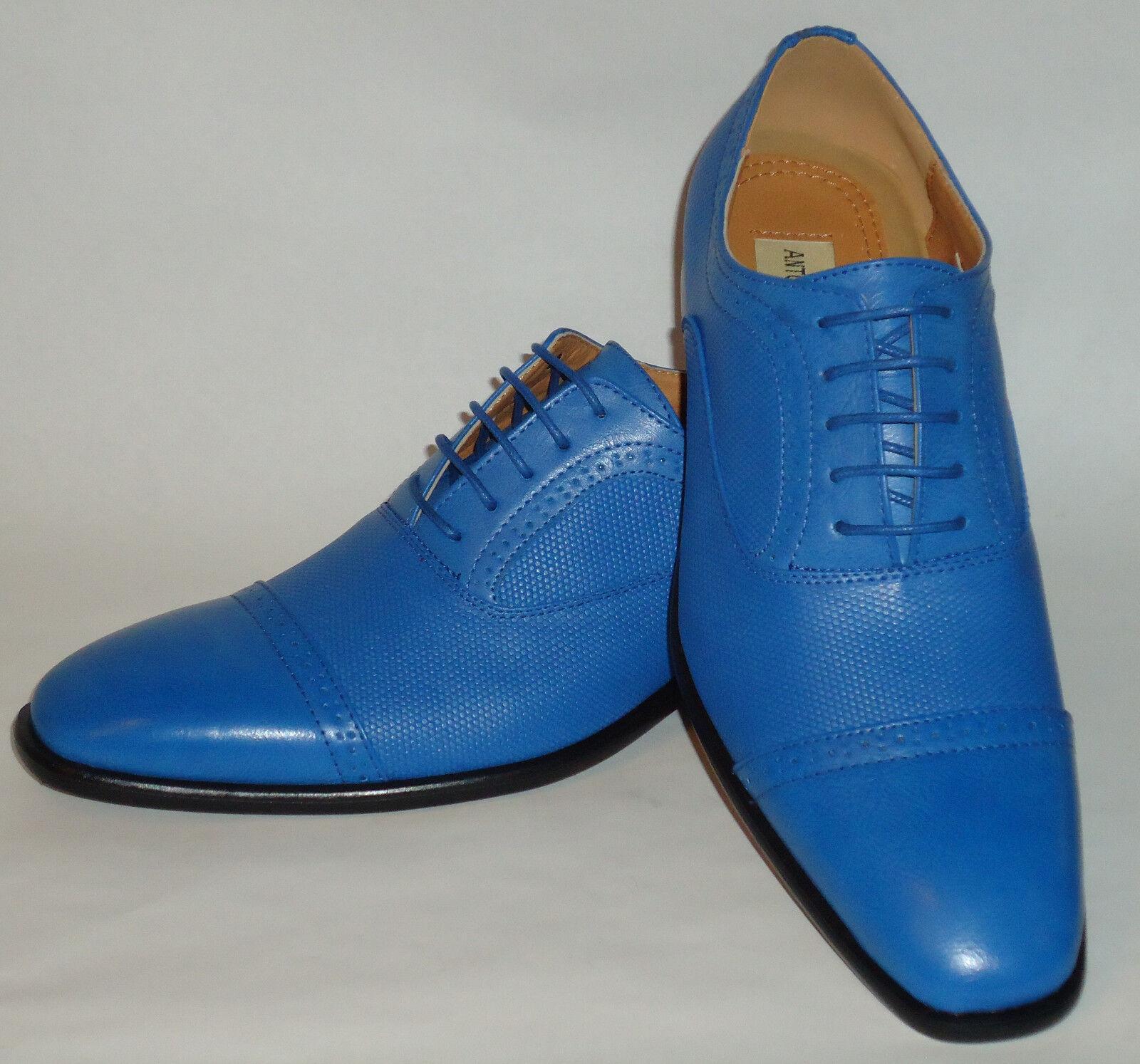 Mens Fashionable New Design Bright Blau Dress schuhe Antonio Cerrelli 6694