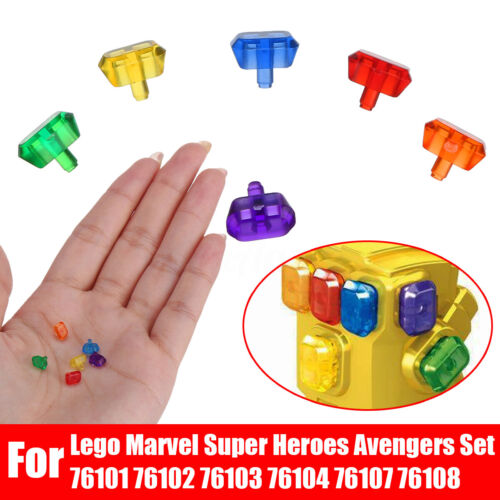 , 6Pcs Gems Infinity Power Stones For Lego Marvel Super Heroes Avengers Set   !