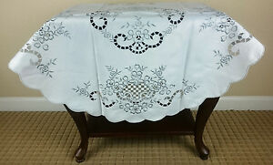 Details About Embroidered Embroidery Night Stand Coffee Side End Table Tablecloth 36 Round