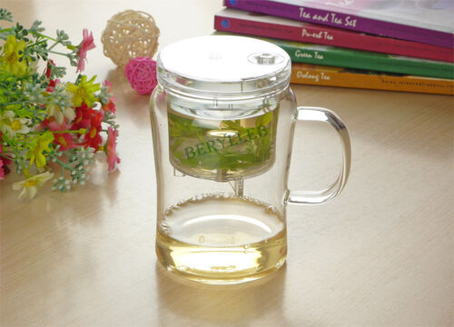 SAMA High Grade Gongfu Glass Teacup Mug w//t Infuser S022 560ml 18.8fl oz