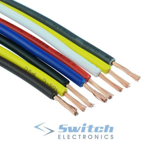 Tri Rated PVC Copper Cable Wire Auto Automotive Marine 12V 0.5mm² 10mm²