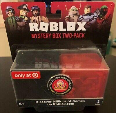 Roblox Game Cards Target Roblox Target Exclusive Mystery Box 2 Pack Bonus Virtual Item Crown Ebay