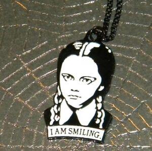 Wednesday Addams I am Smiling Pendant Addams Family
