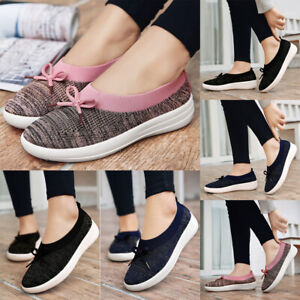 Women-039-s-Trainers-Casual-Sport-Running-Sneakers-Tennis-Shoes-Breathable-Bow-Shoes