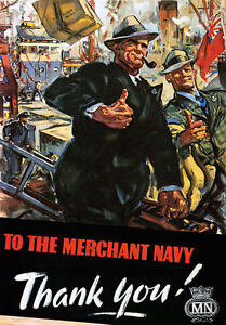 WB7-Vintage-WW2-Merchant-Navy-British-WWII-War-Poster-Re-Print-A4