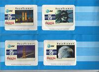 TK AT&T Telephonkarte / Phone Card TeleTicket Canusa Satz 25units (4) RAR !