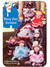 """V Doll 28 12/""""  Dolls clothes knitting and crochet pattern  .Laminated copy."""