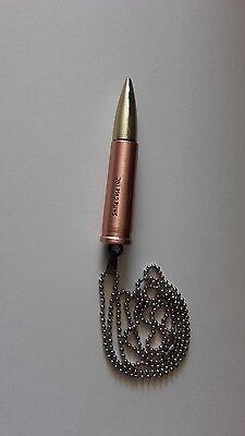Collier Gratuit TOP TENDANCE Pendentif Acier Munition Balle Fusil Ak 47