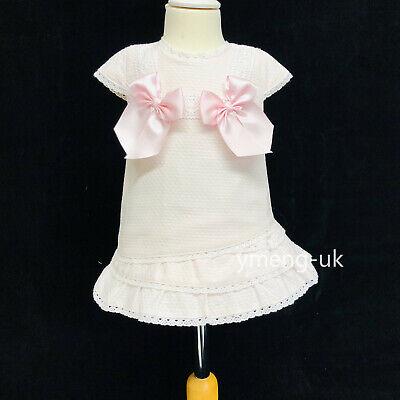 *ausverkauf* Wee Me Baby Mädchen Rosa Spanische Kleid Mehrschicht / Roma / Produkte HeißEr Verkauf