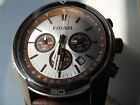 Fossil mens chronograph brown leather band Analog watch.Ch-2565