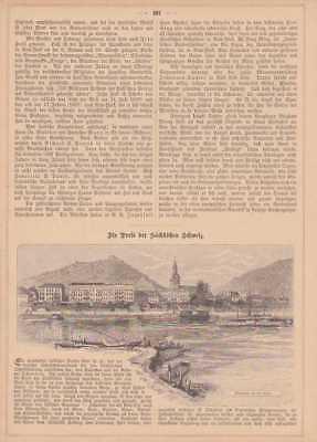 Bad Schandau Sächsische Schweiz Holzstiche Von 1884 Warm Und Winddicht