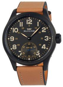 Glycine-Kmu-48-Kriegs-Marine-Uhren-Manuelle-PVD-Montre-Hommes-3906-99AT-LB33