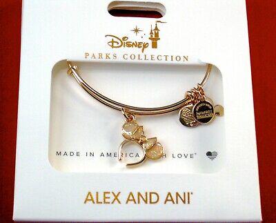 Alex Ani Disney Park Bracelet✿Mickey Minnie Mouse Icon Beaded Crystal Rose Gold