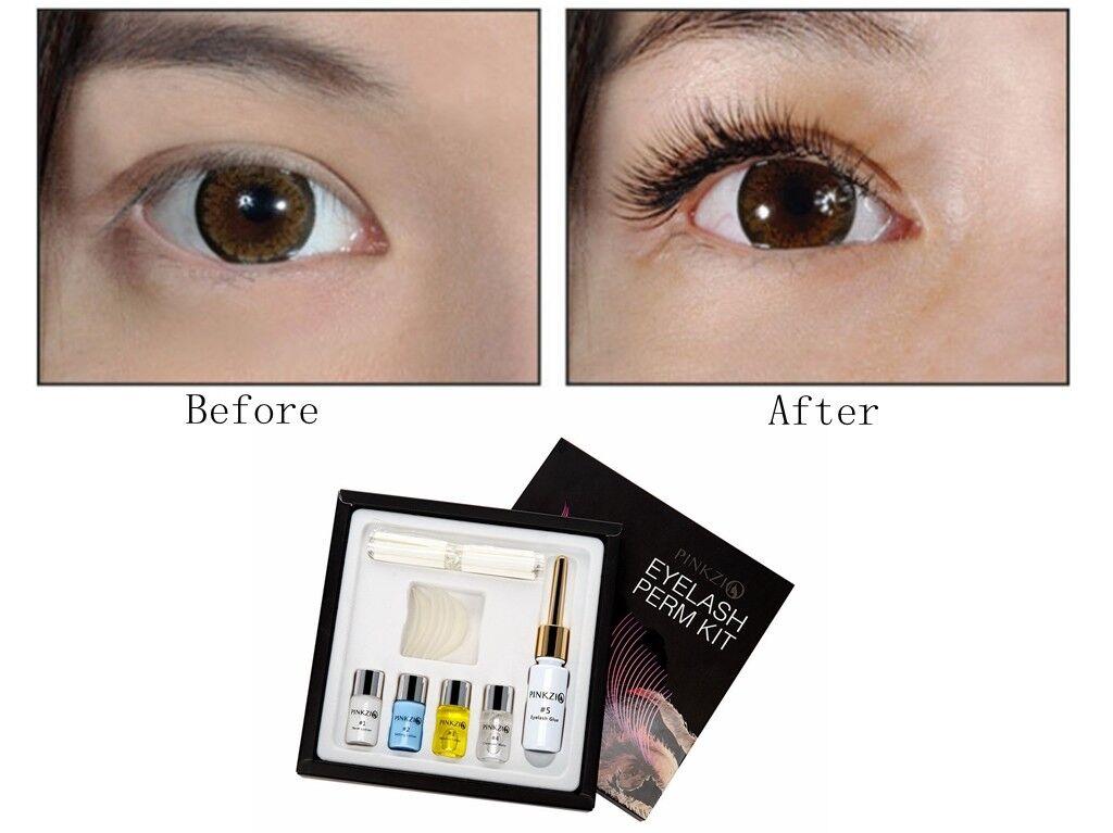 Pinkzio Salon Eyelash Perm Kit Lash Lift Professional Use 7 In 1