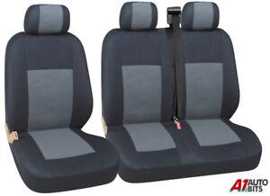 2-1-Gris-Suave-amp-Confort-Tela-Cubiertas-de-Asiento-para-Ford-Transit-Van-personalizado-de-transito