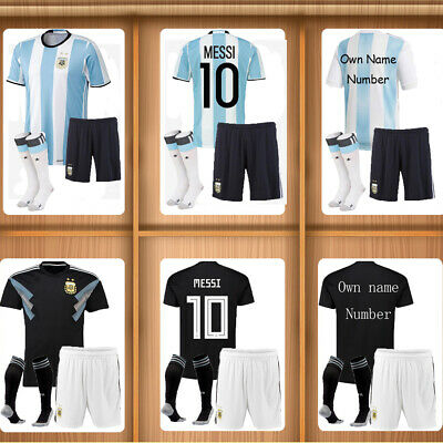 18//19 Soccer Boys Football Club FCB 3-14 Years Jersey Shirt Kids Kits /& Socks FR