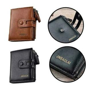 Multifunction-Mens-Leather-Wallet-Wallet-Purse-With-neu-Double-Zipper-Desig
