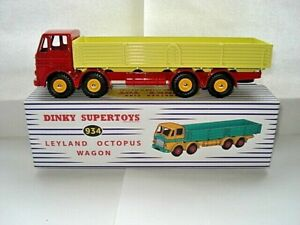 Atlas-Dinky-Supertoys-No-934-Red-Yellow-Leyland-Octopus-8-wheel-Wagon-Mint-Bxd