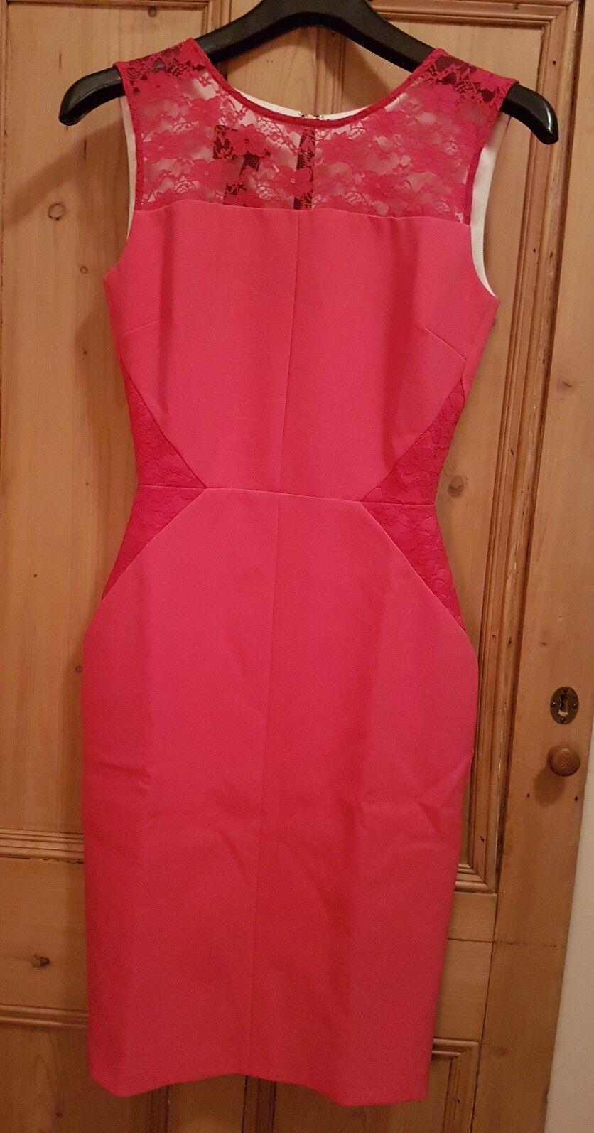 LADIES HYBRID, Suhani Dress BODYCON PENCIL, Rosa-  Größe 8 - RRP