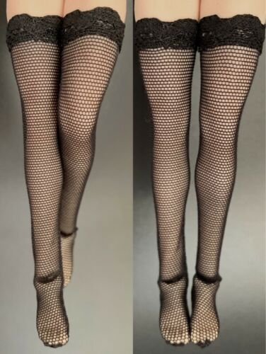 """1//12 Female Black Stockings Clothing Assessories Fit 6/"""" Phicen TBL Figure Toys"""
