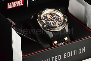 26861-NEW-Invicta-MARVEL-PUNISHER-Speedway-Viper-52mm-Chronograph-RGP-Strap-Watc