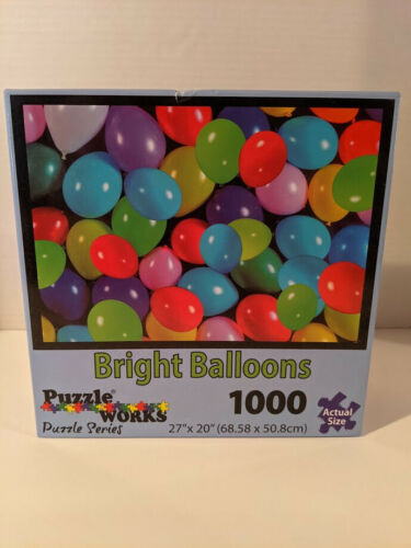 PuzzleWorks 1000-Piece Jigsaw Puzzle - Balloons - NEW!! Unopened!