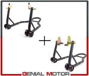 Coppia-Cavalletti-alzamoto-regolabili-anteriore-posteriore-a-forchetta-400-kg