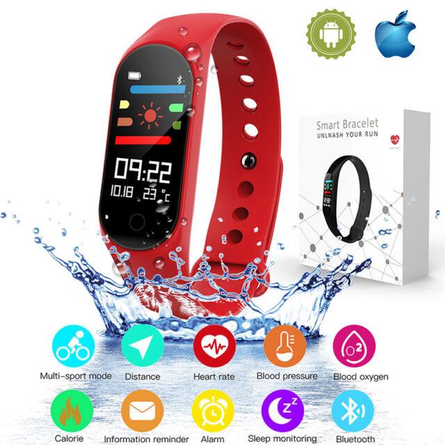 M3S Blood Oxygen Pressure Heart Rate Monitor Pedometer Smart Watch Band Bracelet