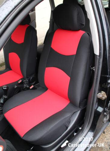 CITROEN C8 Delantero Par De SPORTMAX Rojo//Negro cubiertas de asiento de coche