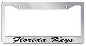 Chrome METAL License Plate Frame ALASKA CURSIVE Auto Accessory 1044