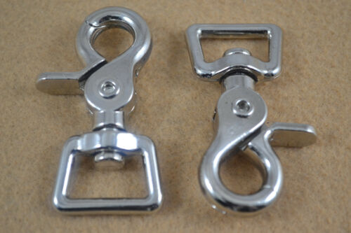 """Scissor Snap Nickel Plated 3//4/"""" F6 Square Eye Pack of 4"""