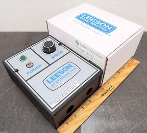 Leeson Electric 90 Volt Dc 180 V Dc Motor Control 115 230 Vac Input Ebay