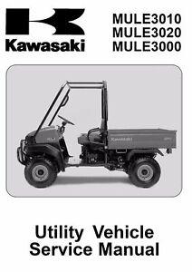 kawasaki mule 3000 3010 3020 2001 2002 2003 2004 2005 service manual rh ebay com kawasaki mule 3010 owners manual pdf 2008 kawasaki mule 3010 service manual