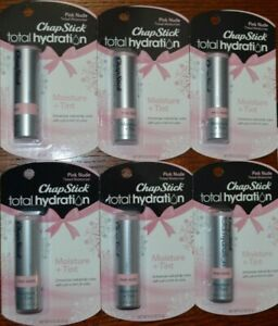 6 Pk CHAPSTICK TOTAL HYDRATION - LIP CARE - PINK NUDE
