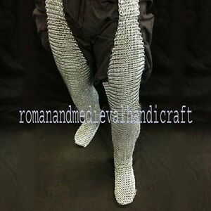 Chain Mail Leggings Butted Chainmail  Chausses Blackend