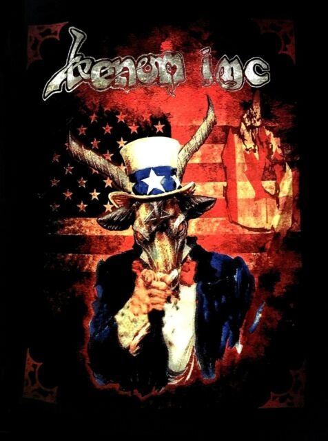 VENOM INC cd lgo Avé Blood Stained Earth SAM GOAT TOUR Official SHIRT LRG new