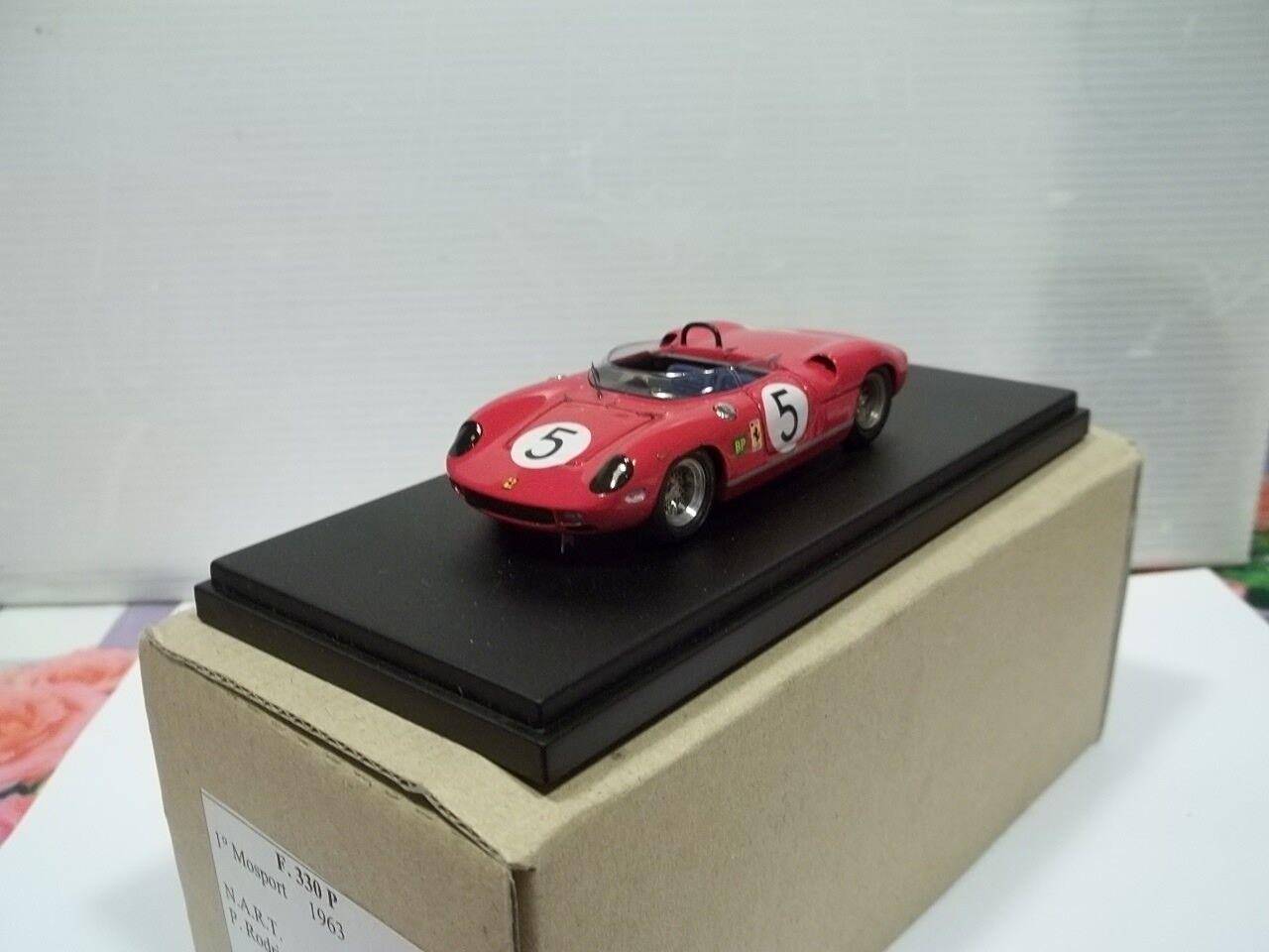 Mad models sc1 43 ferrari 330p 1°motosport 1963 n.a.r.t. rodriguez factory bulit