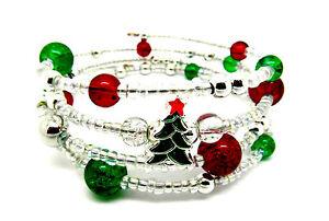 Christmas Tree Memory Wire Bracelet Jewellery Making Kit ...