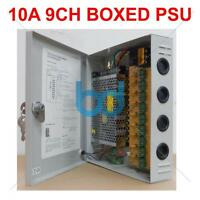 9 Way Cctv Camera Power Supply 12v Dc 9 Ch 10 Amp Distribution Box Lock Case