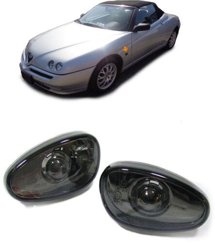 Verre transparent Clignotants Latéraux Noir blackchrom pour ALFA ROMEO 145 146 GTV Spider