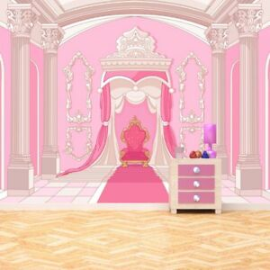 Details about Princess Throne Wall Mural Pink Fairytale Photo Wallpaper  Girls Room Home Decor